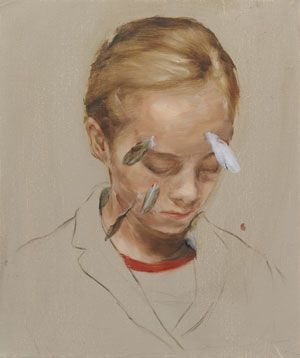 "M. Borremans, ""Girl With Feathers"""