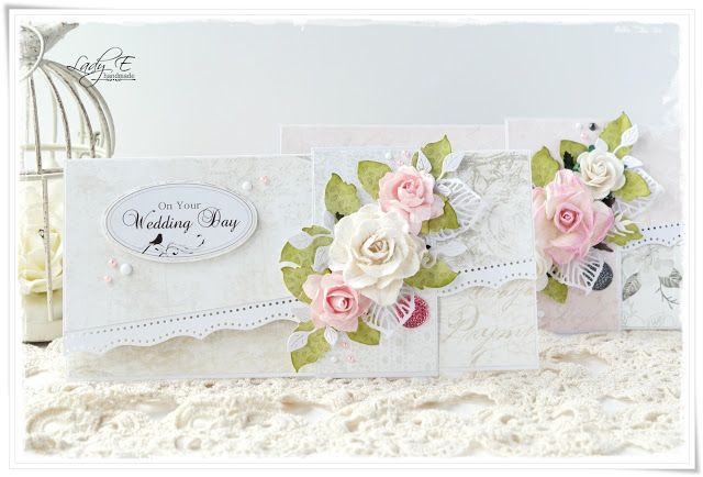 Wedding cards with roses