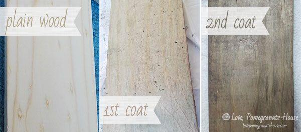 Steel Wool, Coffee Grounds & Vinegar Stain. Make new wood look old.