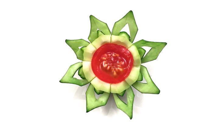 Comment Faire une Fleur en Courgette et Tomate Cerise (HD)