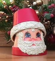 Little clay pot Santa...adore <3