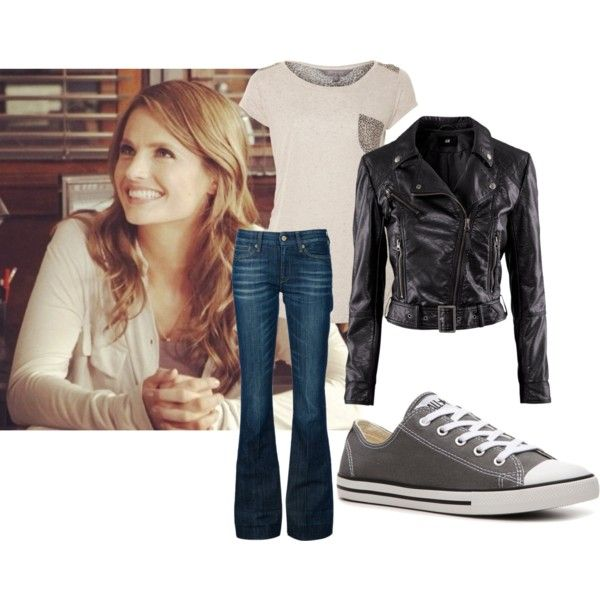 """I think this outfit needs different shoes, especially to stay true to Kate's style; perhaps black pumps? Otherwise, I love it! (""""kate beckett"""" by castlebeckett on Polyvore)"""