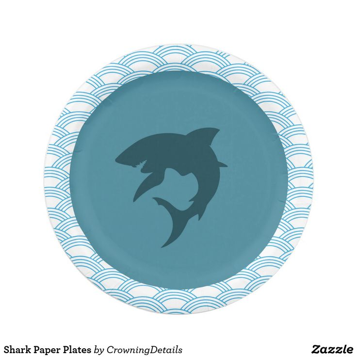 Shark Paper Plates to make your shark birthday party fin-tastic! Shop our entire collection of shark party supplies in our online store!