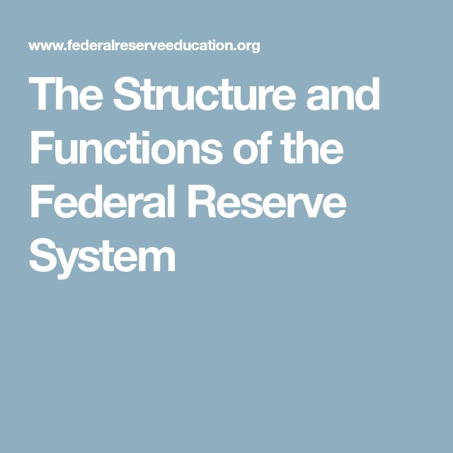 The Structure and Functions of the Federal Reserve System