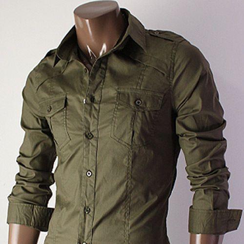 Casual Slim Fit Dress Shirt