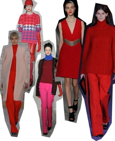 Red. London Fashion Week trends autumn/winter 2012