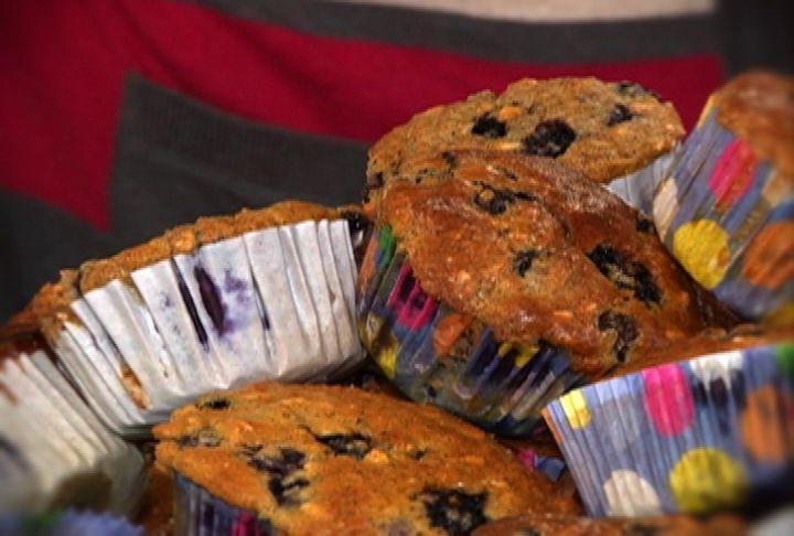 Muffins de arándano bajos en calorías