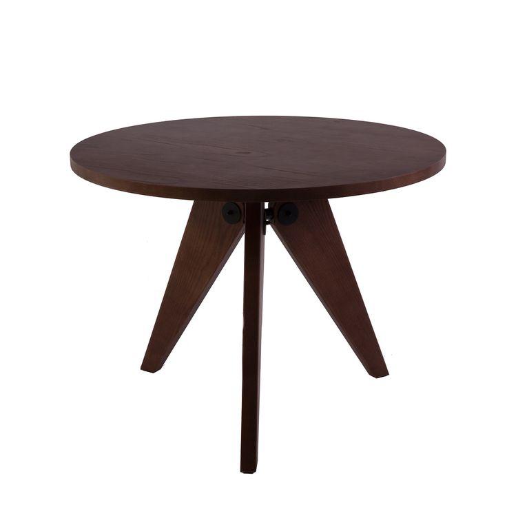 599 usd 127 cm Mid-Century Modern Jean Prouve Reproduction Gueridon Dining Table Walnut