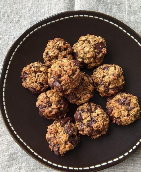 Biscuits flocons avoine beurre cacahuette chocolat
