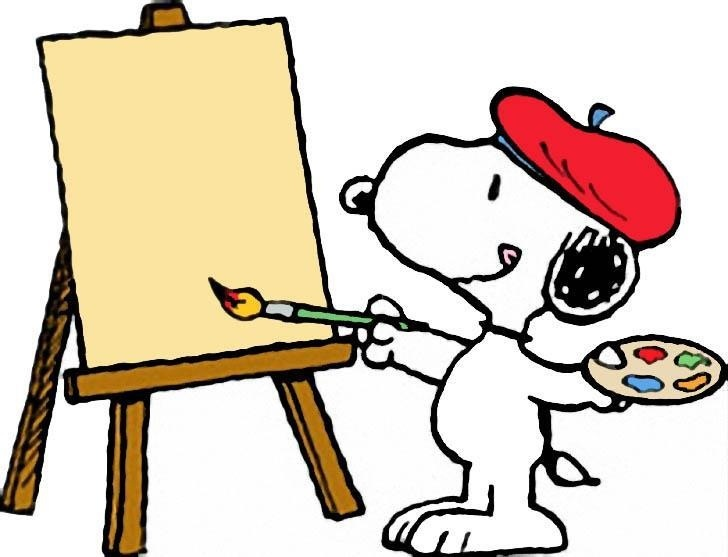 Image result for snoopy painting clip art