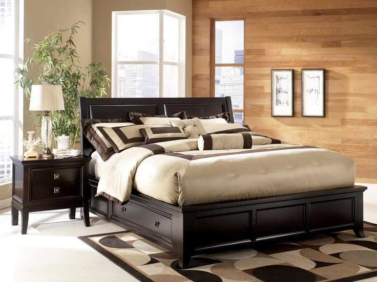 Contemporary Martini Suite California King Platform Storage Bed Dining Room Table Sets Bedroom Furniture Curio Cabinets and Solid Wood Furniture Model Home Top Design - Modern costco bedroom furniture Elegant
