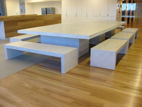 Diy Polished Concrete Dining Table: Móvel Em Granito, Mármore