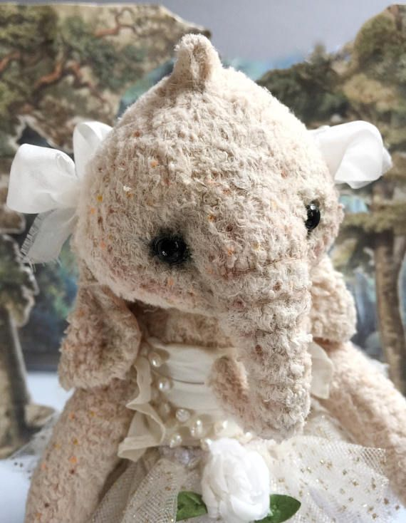 Gloria Meringue little ballerina. She's Teddy Elephant) about 22 cm tall, designed by me, made by my own pattern and hand sewed.