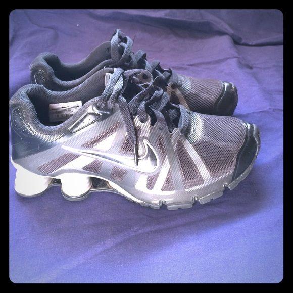 Nike air shock Old school air shocks black and silver Nike Shoes Sneakers
