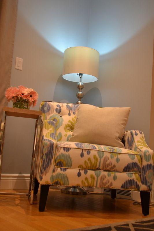 Granger chair family room interior design Windsor