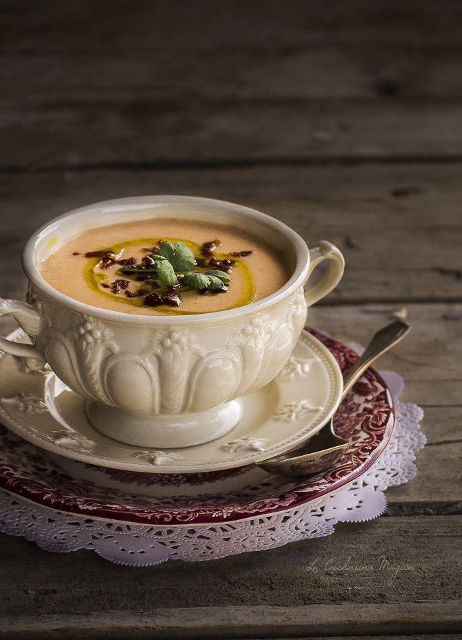 La Cucharina Mágica: Gazpacho de espárrago blanco