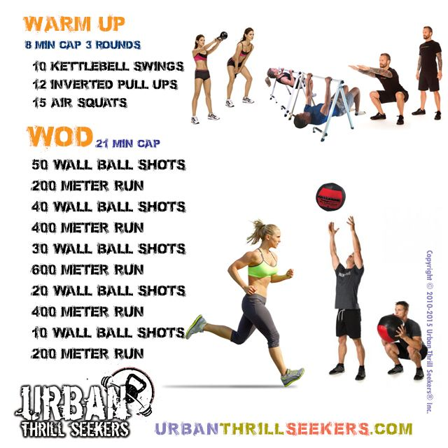 10 Kettlebell Swings, 15 Air Squats, 10 Inverted Pull Ups