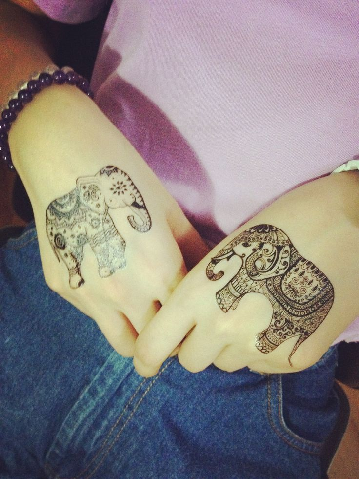 10 best images about lace black white elephant pattern for Temporary elephant tattoo