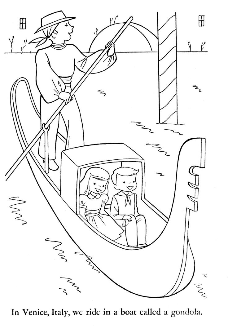 free christmas in italy coloring pages