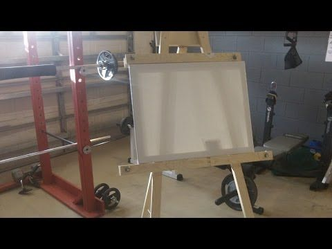 DIY Painting easel - YouTube