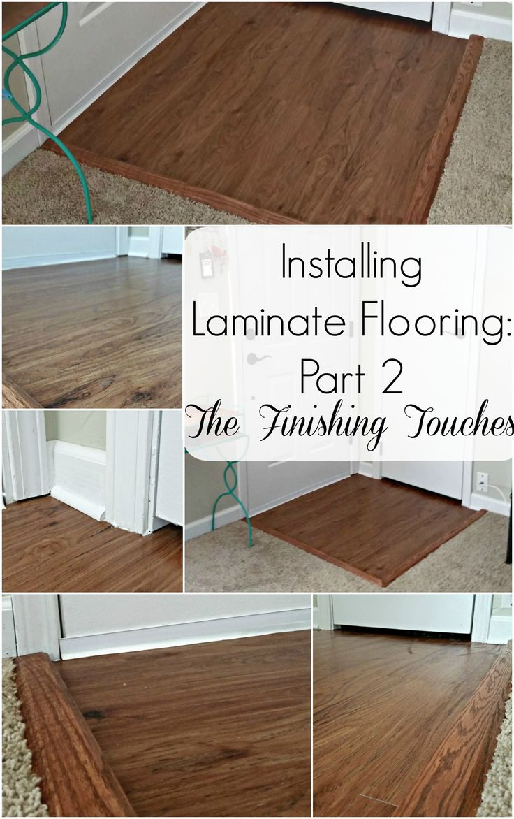 Installing laminate flooring part 2 the finishing touches for Removing stains from laminate floors