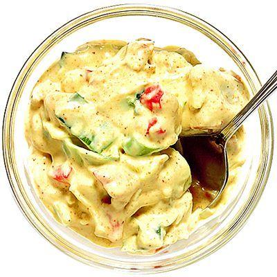 Krämig kycklingröra till bakpotatis | Recept från Köket.se