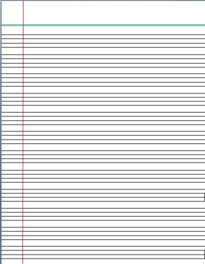 4 Lines Writing Template