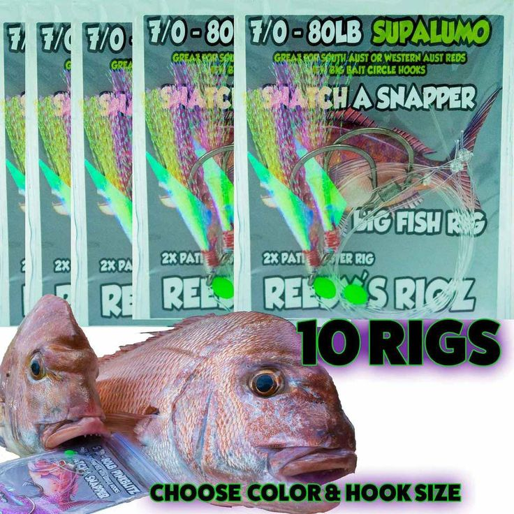 Snapper rigs 7/0 Fishing Rig Paternoster Circle hooks 80lb Leader W.A SupaLumo