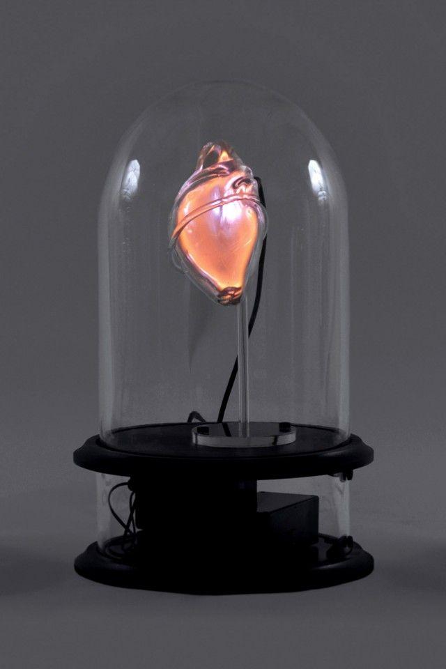Anatomical Neon: Blown Glass Human Organs Containing Neon Lights by Jessica Lloyd-Jones