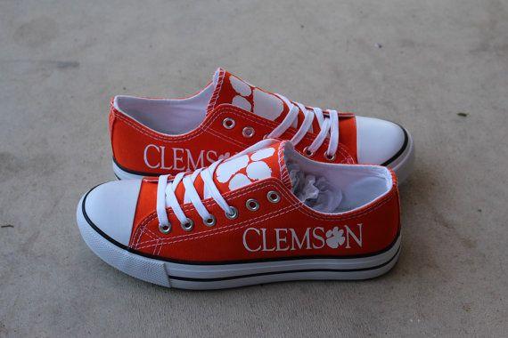 Orange Clemson Tigers Designer Team Shoe by LacedUp209 on Etsy