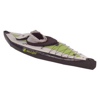 "Sevylor Green/Gray/Black Pointer Kayak - 125"" x 35"" x 9"" - On Clearance Sale $219.98"