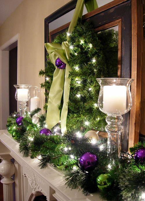 A Whole Bunch Of Christmas Mantel DecoratingIdeas - Christmas Decorating -