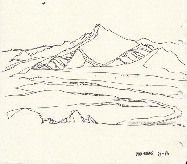 Line Drawing Garden : Best ideas about landscape sketch on pinterest trees