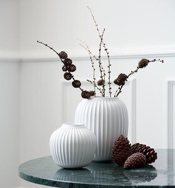 Kähler - Hammershøi Vase - Hvid H 12,5 cm