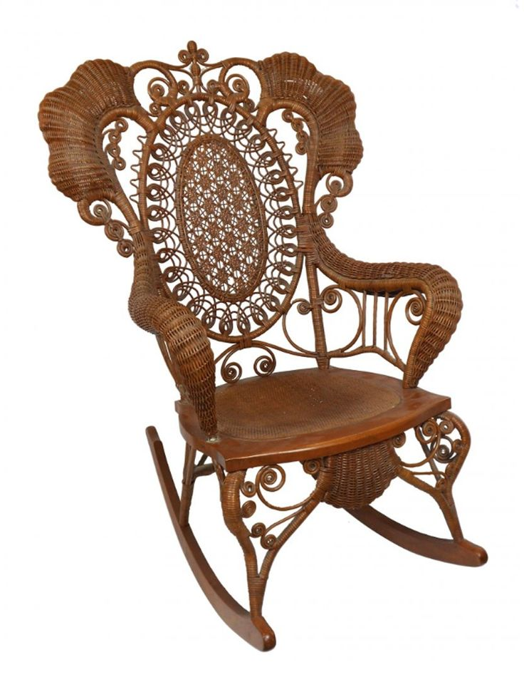 Superb Furniture, Victorian Wicker Chair W/rolled Arms, : Lot 1039