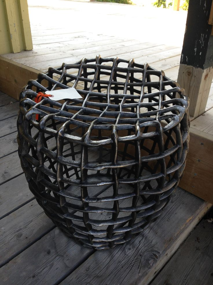 Cast aluminum web stool. Great for indoors or out $ 495.00 www.nestinghabits.ca