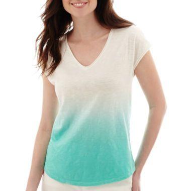 19 best images about spring summer capsule on pinterest for Liz claiborne v neck t shirts