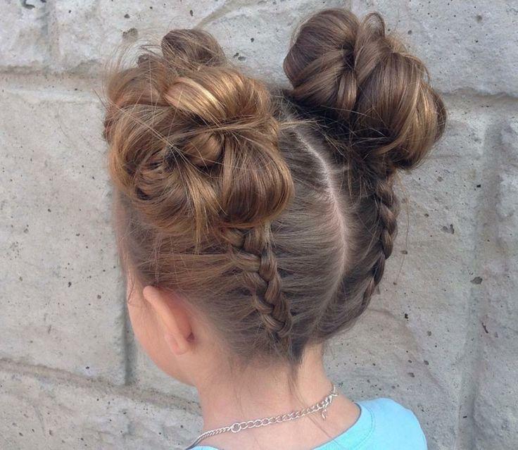 peinados de niñas con recogidos modernos