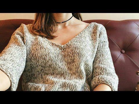 Пуловер снизу вверх, без швов, не реглан, очень подробный МК #вязание#вяжутнетолькобабушки