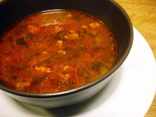 Soup with Lamb and Mint (Sharba Libiya) - As its name suggests Libyan Soup is our national dish, equally popular in all regions and summing up in a spoonful the flavours that dominate Libyan cuisine.  There are versions with chicken and fish, but this is the recipe for the classic Sharba Libiya with lamb and dried mint. .....