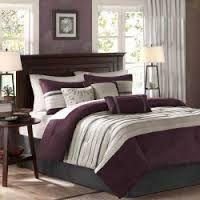 Madison Park Palmer Comforter Set Queen Plum 7198145