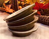 Hall Pottery Vintage Pottery Side Dishes Au Gratin Single Serving Dish Set Of 4