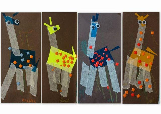 les petites têtes de l'art: Dessine-moi une girafe...(pour Ambre)