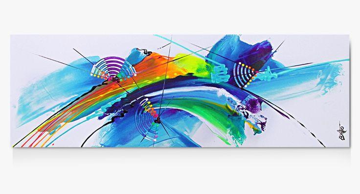 Quadros Abstratos Decorativos 150cm x 50cm QB198