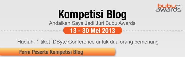 #Blogger get 1 ticket to #IDByte Conference Jakarta June 13th 2013 Ballroom Ritz Carlton Pacific Place > http://www.beritasatu.com/kontesblogbubu