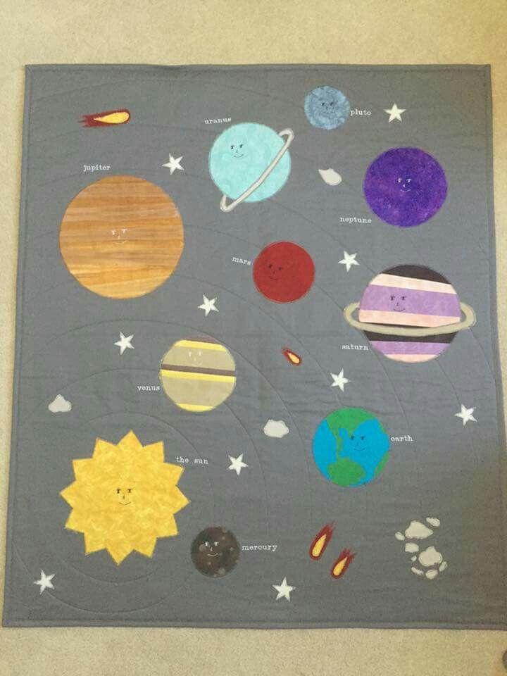 41 best train quilt images on pinterest solar system for Solar system quilt pattern