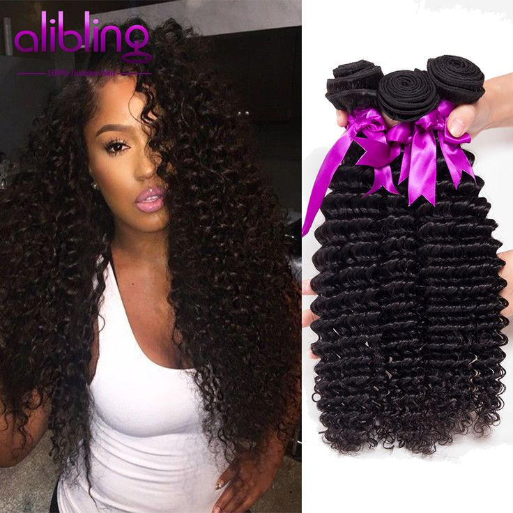 8A Indian Curly Hair Maxine 100% Unprocessed Indian Deep Wave Virgin Hair Weave Ali moda Deep Curly 3pcs No Shedding Tangle Free
