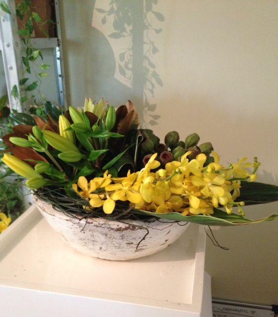 lemon table centre sample by beautiflora - www.beautiflora.com