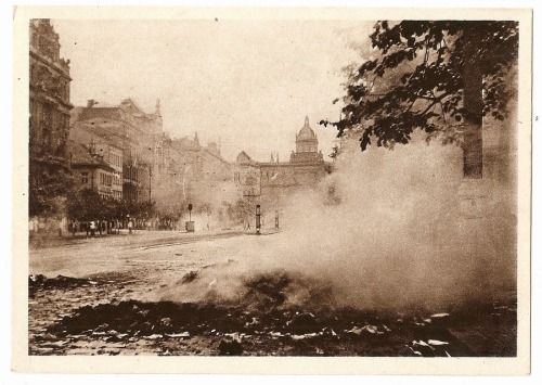 Prague Uprising 1945, Wenceslas Square