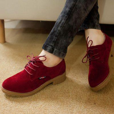 Sapato Feminino Casual Oxford c/ Salto